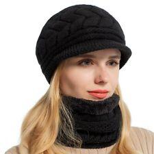 bda75a0f0a2386 AKIZON Skullies Beanies Women Knitted Hat Scarf Female Winter Hats For Women