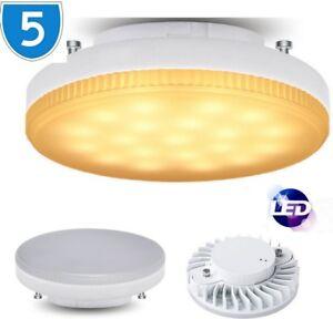 5x-Led-SMD-Armoire-sous-Unite-7W-Ampoule-2-Broches-Cfl-GX53-Plafonnier-Blanc