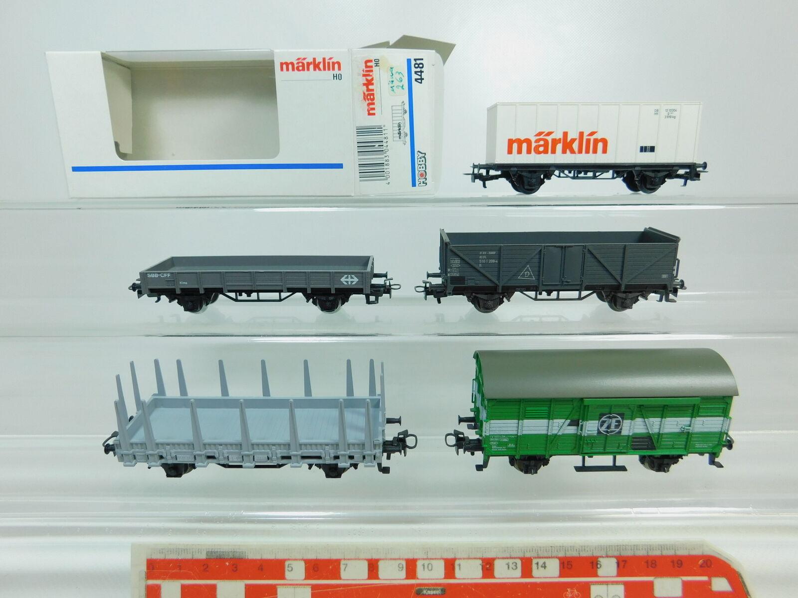 Bp621-1 x märklin h0 ac freight car  cfl + sbb-cff + 4481 db