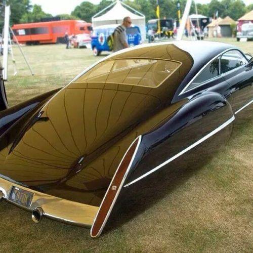 1949 Cadillac Eldorado Racer concepto Vintage SPORT RACE CAR 24 Hot Rod Metal 1