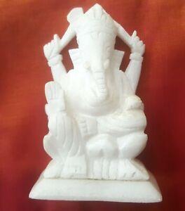 Ganesha-Statue-Marbre-Statuette-Figurine-indienne-Fait-main-Ganesh-Hindou-H1
