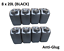 thumbnail 1 - 8 x 20 LITRE 20L PLASTIC BOTTLE JERRY WATER CONTAINER CANISTER ANTI GLUG - BLACK