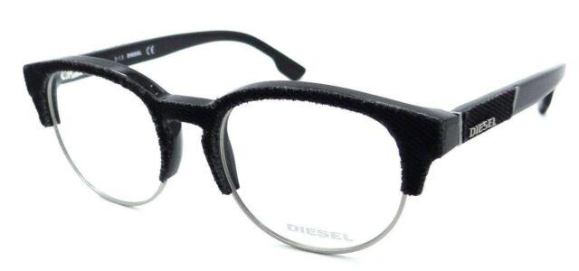 2bf36b5b0a7 New Authentic Diesel Rx Eyeglasses Frames DL5138 005 50-19-145 Black Grey  Denim