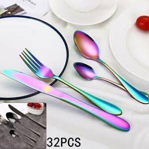 16pcs-Colorful-Iridescent-Black-Fork-Spoon-Stainless-Cutlery-Set-for-Dining-UK