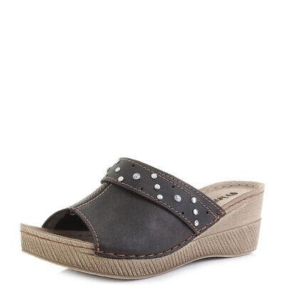 Womens Inblu GM-21 Aquamarina Wedge Heel Comfort Embellished Sandals Size