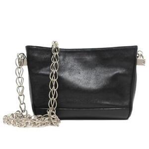 7277ce35a2f3 Yves Saint Laurent YSL Small Black Leather Chain Shoulder Handbag ...