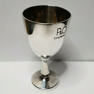 P-amp-O-SS-Chusan-Silver-plated-small-cup-goblet-Mappin-Webb-H81-43mm
