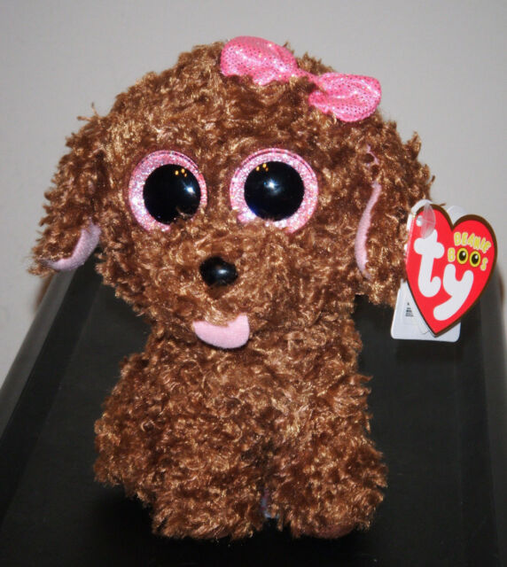 """Ty Beanie Boo's Boos ~ MADDIE the 6"""" Dog 2014 NEW ~ Claires Exclusive ~ Cute"""
