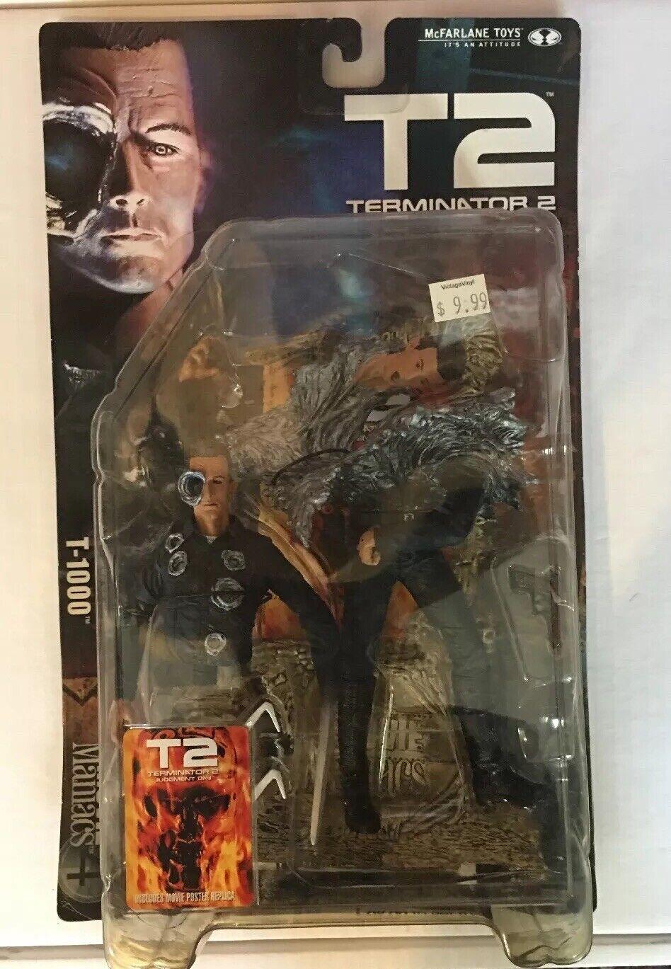 T2 Judgement Day Terminator T-1000 Movie Maniacs 4 McFarlane 2001