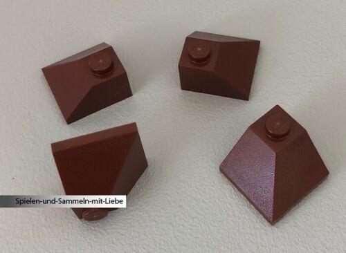 4 x LEGO® ECKSTEIN 2 x 2 SCHRÄG AUSSENECKE DACHZIEGEL DACHSTEIN 3045 NEU BRAUN