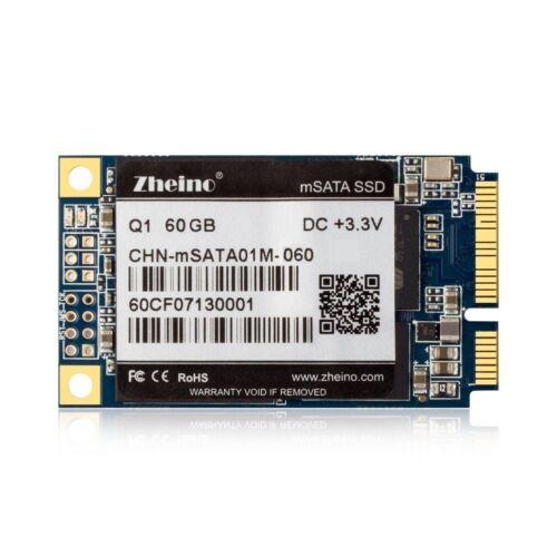 Zheino Q1 60GB mSATA Solid State Drive mini PCIe SSD For Dell M4500 HP Lenovo PC