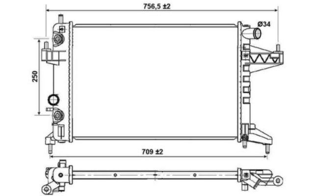 NRF Radiador, refrigeración del motor OPEL CORSA TIGRA VAUXHALL 53035