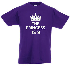 Image Is Loading The Princess 9 9th Birthday Gifts T