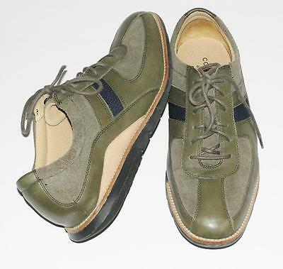 COLE HAAN~OLIVE GREEN~LEATHER-SUEDE *GRAND-OS* CASUAL OXFORD SLIP-ON SHOES~9M
