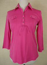 Zauberhaftes GERRY WEBER EDITION Stretch Poloshirt, Shirt, Baumw. rosa Gr. 38