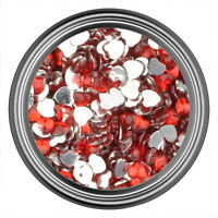 Red Heart Rhinestone Gems Flat Back Face Art Nail Art Jewels Decoration