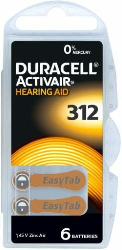 Duracell-Activair-Mercury-Free-Hearing-Aid-Batteries-Size-312-Expires-2023