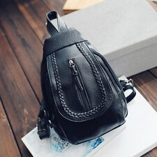 Womens PU Leather Satchel Shoulder Backpack School Rucksack Bags Travel Fashion