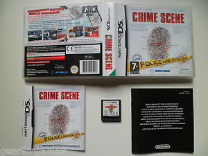 Details about NINTENDO DS PAL GAME CRIME SCENE RARE! TESTED
