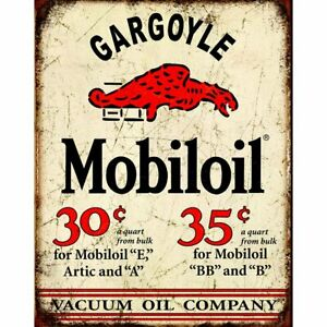 Mobil-Gargoyle-Distressed-Rustic-Retro-Vintage-Tin-Sign-13-x-16in
