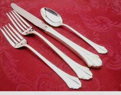 "Bel Chateau by Lunt Sterling Silver Regular Fork 7 1//2/"" New Flatware"