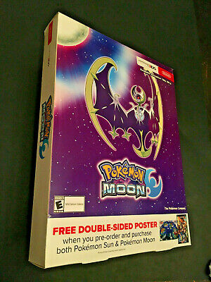 "CoöPeratieve Pokemon Moon Store Display Only Pre-order Box 16"" X 11"" Cool Display Some Wear"