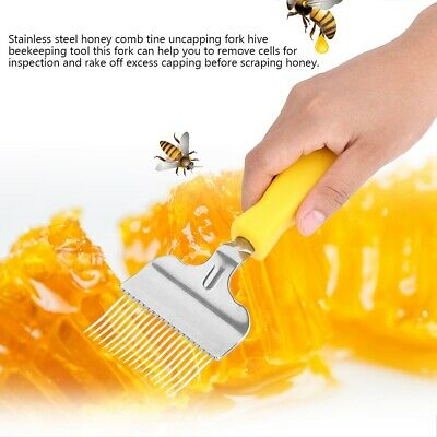 Stainless Steel  Bee Honey Comb Beekeeping Tine Uncapping Fork Hive