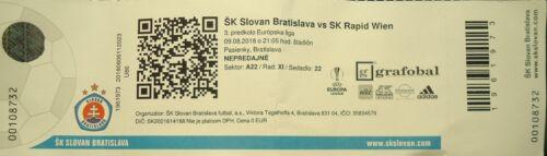 TICKET UEFA EL 2018//19 Slovan Bratislava Rapid Wien