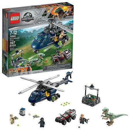 LEGO Jurassic World Blue's Helicopter Pursuit 75928 Building Kit 397 Pcs NEW