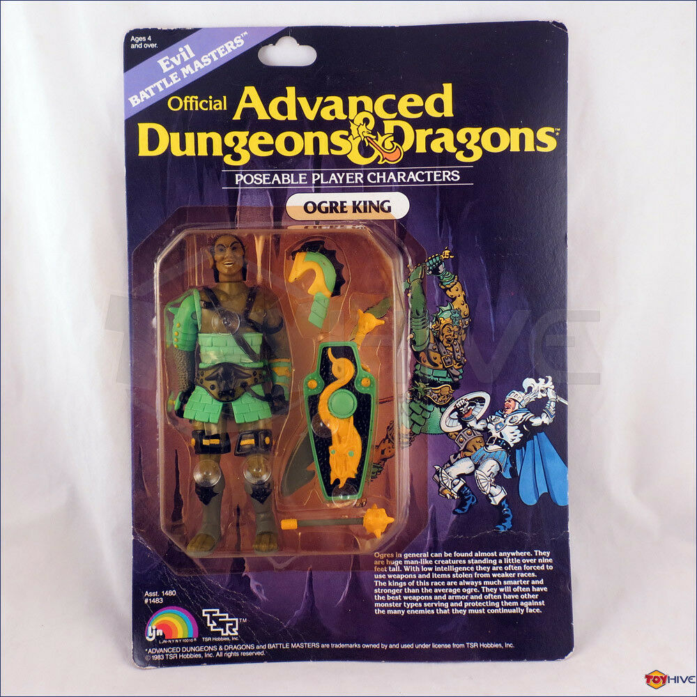 D&D Advanced  Dungeons & Dragons Evil Ogre re by LJN TSR autoded - worn autod  negozio di sconto