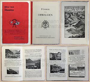 Alter-Reiseprospekt-Broschuere-Fuehrer-durch-Obwalden-Schweiz-Urkanton-um-1910-xz