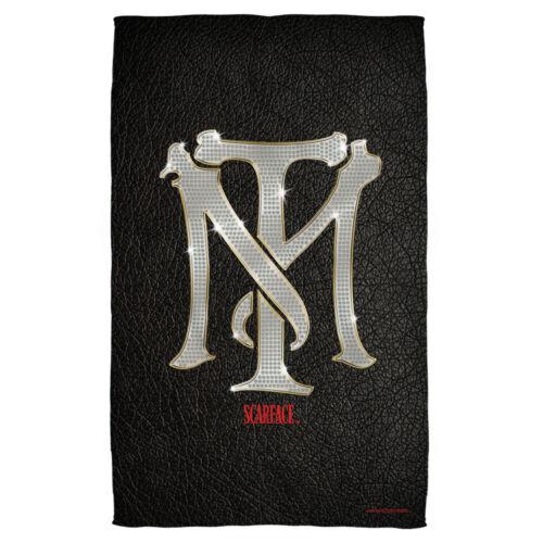Scarface Movie Tony Montana TM Bling Logo MONOGRAM Lightweight Beach Towel