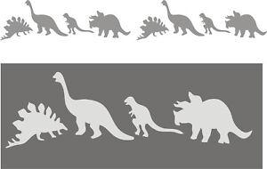 Wandschablone-Kinderschablone-Malerschablone-Schablone-Stencil-Dinosaurier