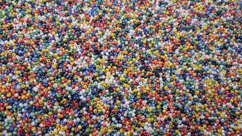 3000 Opaque AB Verre Seed Perles taille 11//0 2 mm 50 g Pour Bijoux Acheter 4 Pour 3