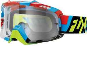 Fox Air Space Goggles Divizion Blue Yellow Adult Motorcycle MX ATV 15346-901
