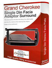 Jeep Grand Cherokee stereo radio CD Facia Fascia adapter panel trim with pocket