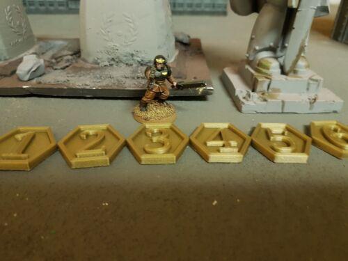 Hexagonal Warhammer 40k Objective Markers