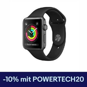 Apple Watch 3 - 42mm - GPS - Aluminium Spacegrau / Sportarmband Schwarz - NEU !!