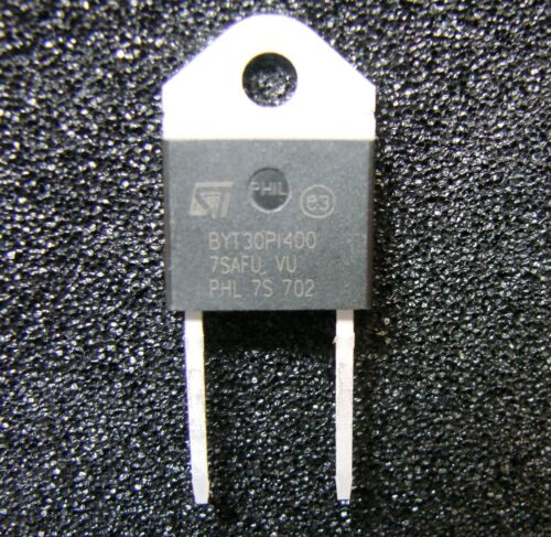 2pcs RoHS ST Micro BYT30PI-400RG 30A//400V Fast Recover Rectifier Diode,DOP3I-2