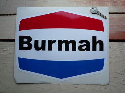 "BURMAH Shaped Race Car STICKERS 6/"" Pair Rally Escort Oil Petrol Pump Gas Fuel"