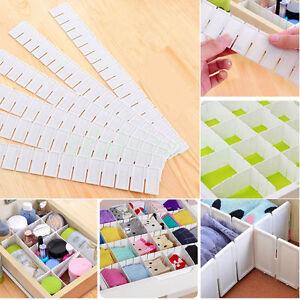 6Pcs-Plastic-DIY-Drawer-Partitions-Divider-Free-Combination-Storage-Organizer-ZZ