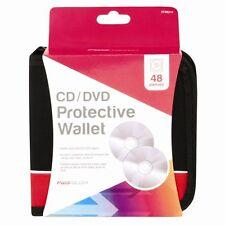 48 CD/DVD Car Disc Storage Wallet Holder Zip Carry Case Pocket Protector Sleeves