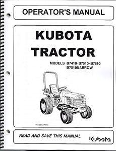 Kubota-B7410-B7510-B7610-Tractor-Operator-Manual-6C190-63113