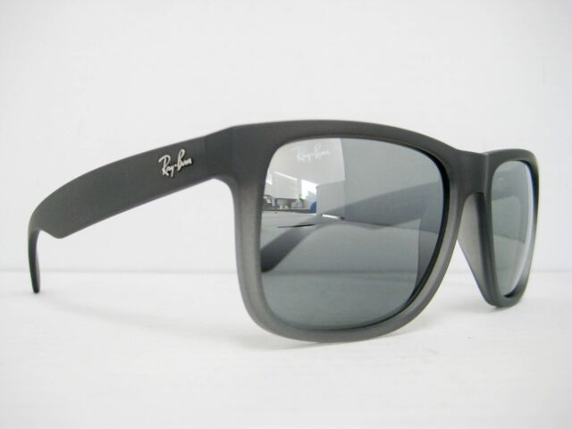 ... hot new authentic ray ban sunglasses rb4165 852 88 rubber grey grey  mirror 55mm aa9ba 01706 38b7d6800b