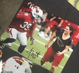 Jen-Welter-Autographed-Arizona-Cardinals-8x10-Photo-Gameday-Hologram-E