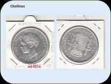 5 PESETAS ALFONSO XIII  AÑO 1898 *18 *98  SG.V ( EBC) ( MB8826 )