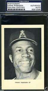 Frank-Robinson-Psa-dna-Coa-Hand-Signed-Photo-Authentic-Autograph