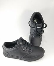 197a6d6b931dd3 item 1 Vans Kids Black Leather Sneaker Shoes Unisex Boys Girls Skate Sze  3.5 - Vans Kids Black Leather Sneaker Shoes Unisex Boys Girls Skate Sze 3.5
