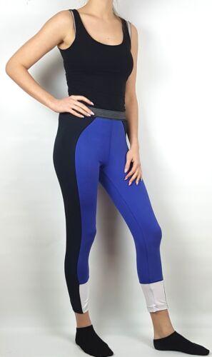2x Damen Sport Freizeit Leggings royal blau schwarz Stretch 36 bis 54 neu 63673