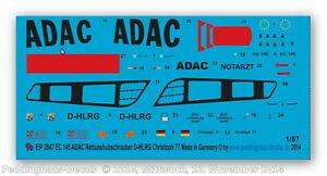 Peddinghaus 2847 1/87 EC 145 ADAC Rettungshubsch<wbr/>rauber D-HLRG Christoph 77